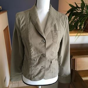 Button Down Jacket with Pockets by GAP, Size 8